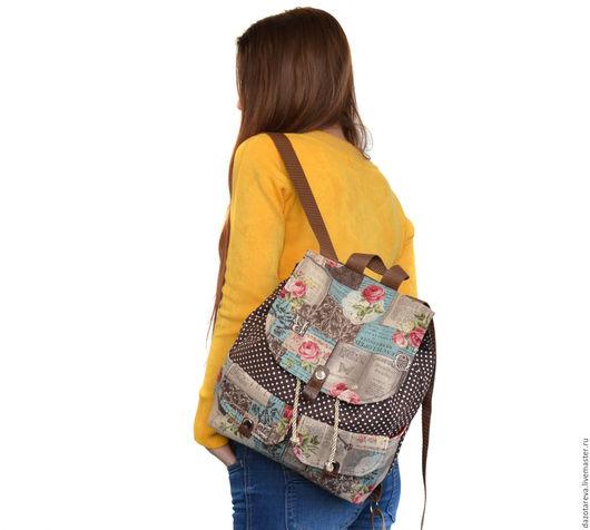 Рюкзаки ручной работы. Ярмарка Мастеров - ручная работа. Купить Рюкзак женский. Handmade. Коричневый, рюкзак в подарок, повседневный рюкзак