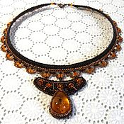 Украшения handmade. Livemaster - original item Necklace: Skorpio. Openwork macrame necklace with scorpion. Handmade.