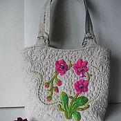 Сумки и аксессуары ручной работы. Ярмарка Мастеров - ручная работа Орхидеи вышитая сумка. Handmade.
