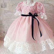 Куклы и игрушки ручной работы. Ярмарка Мастеров - ручная работа Платье розовое для куклы БЖД (  MCD) №7. Handmade.