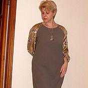 Одежда ручной работы. Ярмарка Мастеров - ручная работа Платье комбинированное шерсть +шелк. Handmade.
