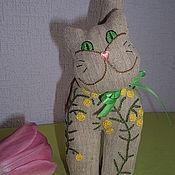 Куклы и игрушки ручной работы. Ярмарка Мастеров - ручная работа Котик в мимозах.. Handmade.