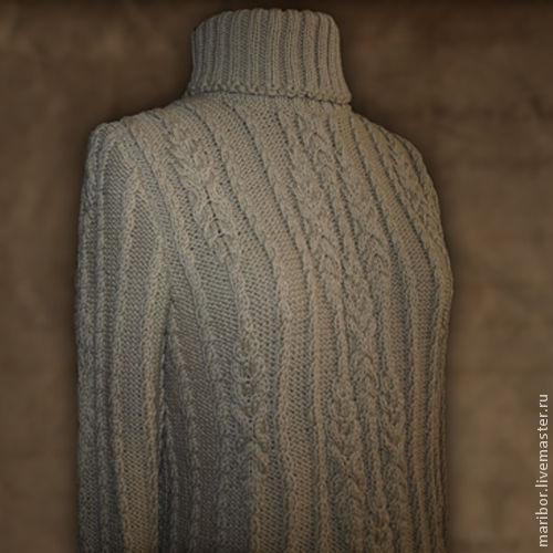 Кофты и свитера ручной работы. Ярмарка Мастеров - ручная работа. Купить Тёплый свитер.. Handmade. Бежевый, свитер спицами