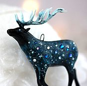 Подарки к праздникам handmade. Livemaster - original item Christmas toy Space deer. Handmade.