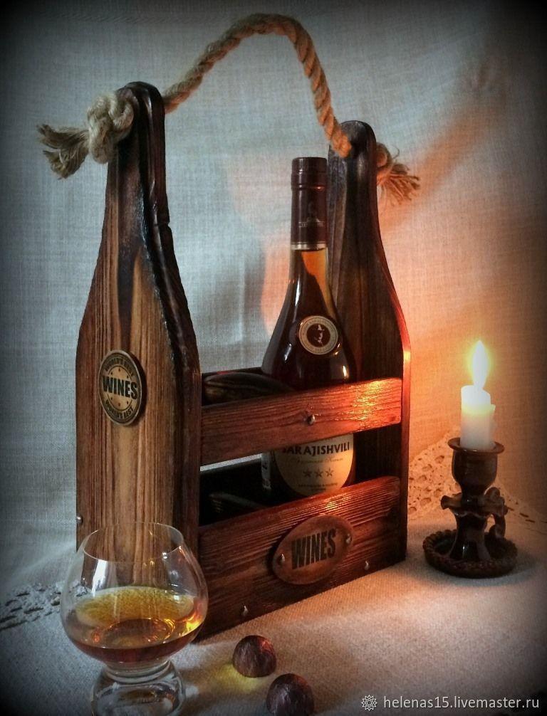 Винный короб Брутальный Короб для вина Декупаж Мини бар Массив сосны, Короб, Орел,  Фото №1
