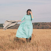 Одежда handmade. Livemaster - original item Linen dress loose fit. Handmade.