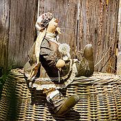 """Куклы и игрушки ручной работы. Ярмарка Мастеров - ручная работа Зайка в стиле """"Бохо"""". Игрушка текстильная.. Handmade."""