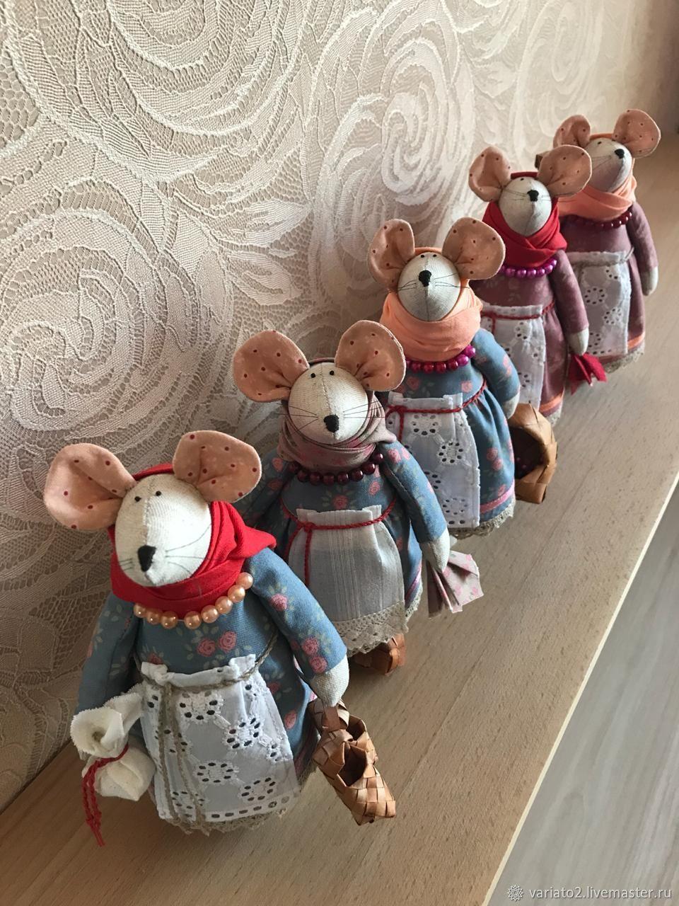 Мышки в русском стиле, Народная кукла, Липецк,  Фото №1