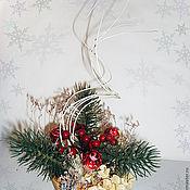 Подарки к праздникам ручной работы. Ярмарка Мастеров - ручная работа Новогодняя настольная композиция. Handmade.