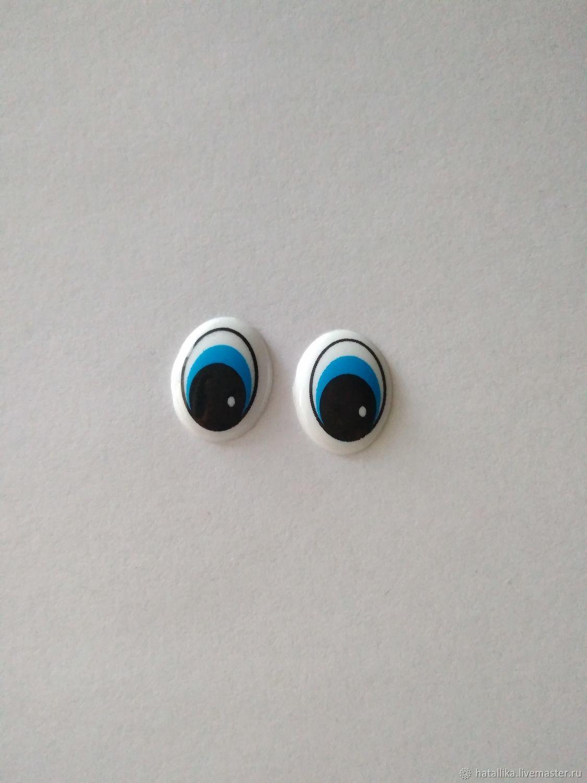 Глазки для игрушек пластиковые рисованные овальные Г38-11, Фурнитура для кукол и игрушек, Мытищи, Фото №1
