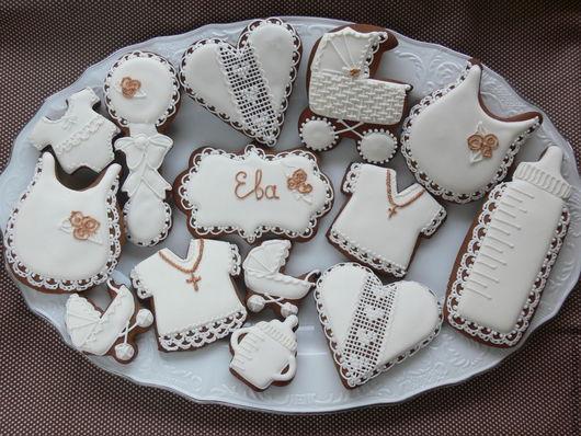 Кулинарные сувениры ручной работы. Ярмарка Мастеров - ручная работа. Купить Пряники на крестины Евы. Handmade. Имбирное печенье, на крестины