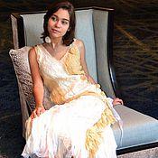 """Одежда handmade. Livemaster - original item The dress of silk and wool """" Daisy"""". Handmade."""