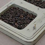 Для дома и интерьера ручной работы. Ярмарка Мастеров - ручная работа Ключница деревянная с кофе, состаренная,  шебби шик. Handmade.
