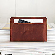 Канцелярские товары handmade. Livemaster - original item Leather cover passport or driver license manual suture. Handmade.