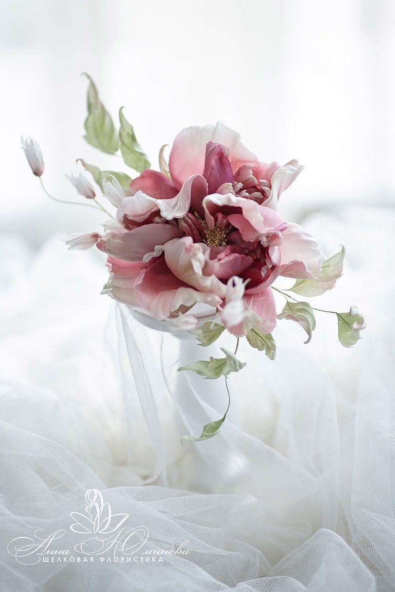 """Цветы ручной работы. Ярмарка Мастеров - ручная работа. Купить Роза из шёлка """"Маркиза"""". Handmade. Свадебное платье, цветы из ткани"""