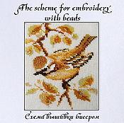 Материалы для творчества handmade. Livemaster - original item The scheme for embroidery with beads Golden bird. Handmade.
