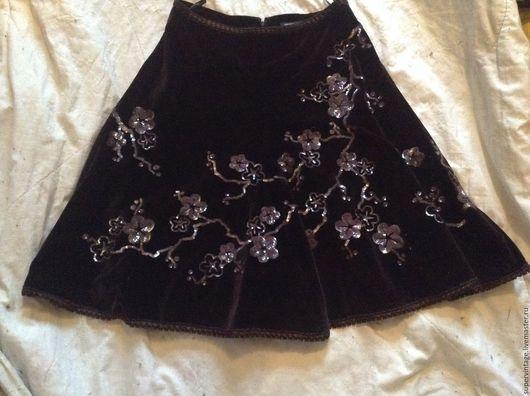 Одежда. Ярмарка Мастеров - ручная работа. Купить ANDREW GN, НОВАЯ, нарядная юбка оригинал. Handmade. Коричневый, нарядная юбка