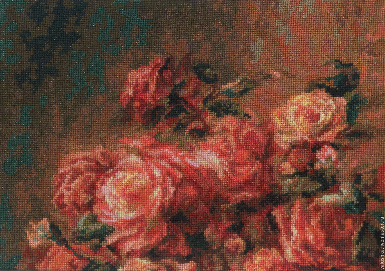 Букет роз ренуара вышивка