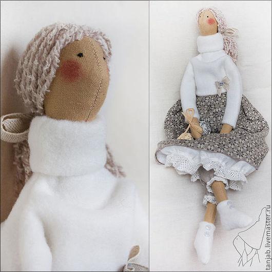 Куклы Тильды ручной работы. Ярмарка Мастеров - ручная работа. Купить Тильда Каиса - кукла в бохо стиле. Handmade. Серый