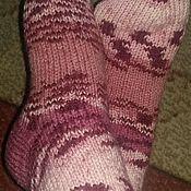 Белье ручной работы. Ярмарка Мастеров - ручная работа Вязаные носки. Handmade.