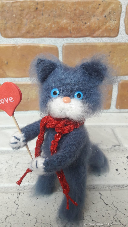 Котик вязаный Искренне Ваш, Мягкие игрушки, Новочеркасск,  Фото №1