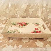 Для дома и интерьера ручной работы. Ярмарка Мастеров - ручная работа поднос Розы. Handmade.