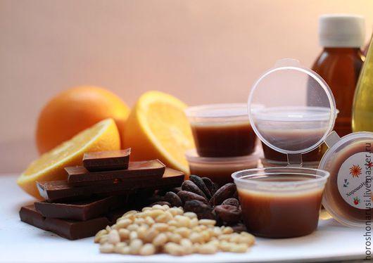 Кедровый бальзам для губ `Апельсин в шоколаде`.