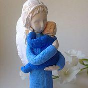 """Подарки к праздникам ручной работы. Ярмарка Мастеров - ручная работа Ангел """"Мама в голубом"""". Handmade."""