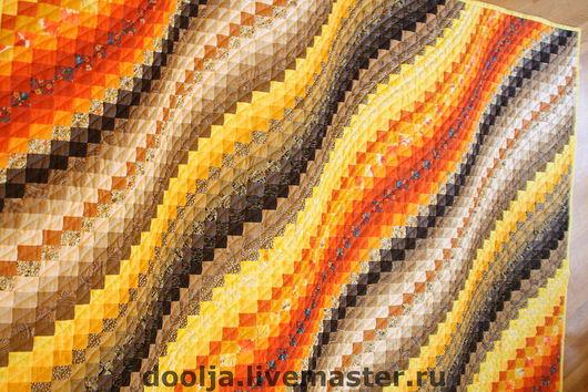 """Текстиль, ковры ручной работы. Ярмарка Мастеров - ручная работа. Купить Одеяло """"Желтая волна"""". Handmade. Hand-made, подарок"""