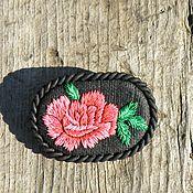 Украшения ручной работы. Ярмарка Мастеров - ручная работа Брошь в винтажном стиле Красная роза. Handmade.