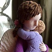 Куклы и игрушки ручной работы. Ярмарка Мастеров - ручная работа Ангел-мама в фиолетов 3. Handmade.