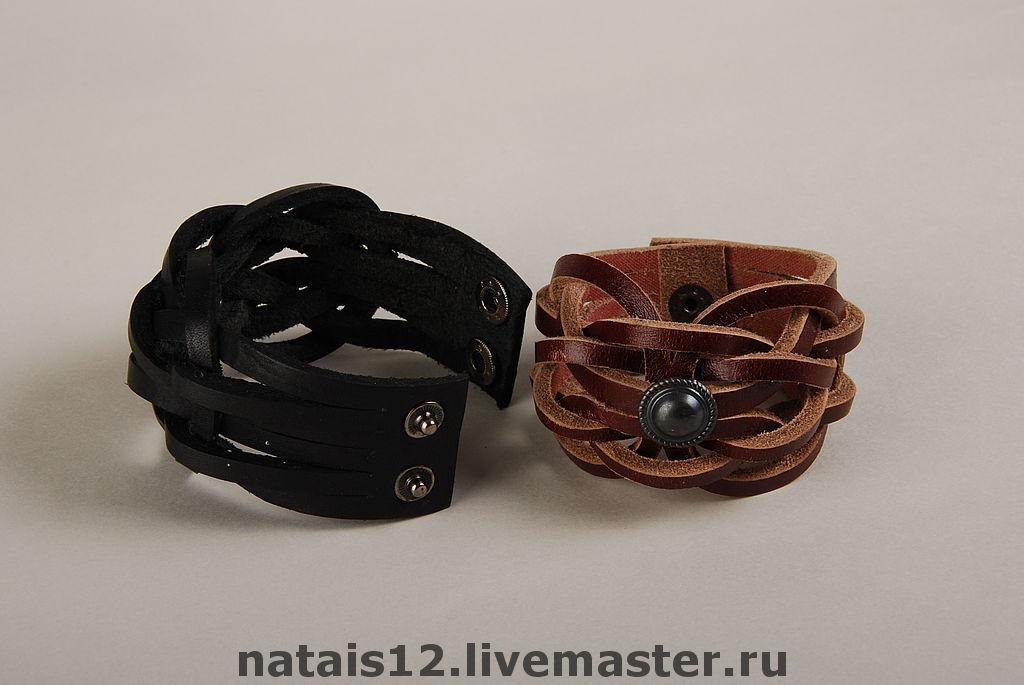 Кожаный браслет для женщин своими руками 284