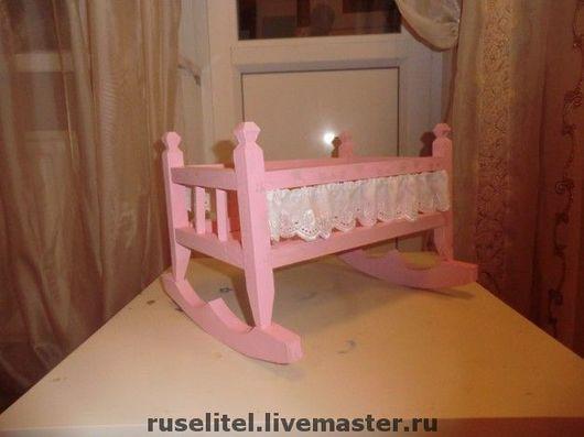 Кукольный дом ручной работы. Ярмарка Мастеров - ручная работа. Купить Кроватка для кукол. Handmade. Кроватка, кукольная мебель