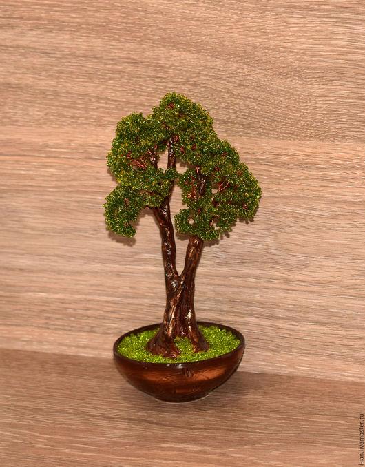 """Деревья ручной работы. Ярмарка Мастеров - ручная работа. Купить Дуб """"Июль"""" из бисера. Handmade. Подарок мужчине, подарок на новый год"""