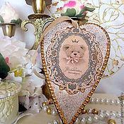 """Для дома и интерьера ручной работы. Ярмарка Мастеров - ручная работа Интерьерная подвеска - сердечко  """"Тедди"""". Handmade."""