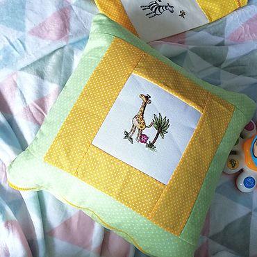 """Текстиль ручной работы. Ярмарка Мастеров - ручная работа Подушка """"Африка"""" для детской. Handmade."""