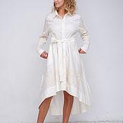 """Одежда ручной работы. Ярмарка Мастеров - ручная работа Платье-рубашка """"Экрю"""". Handmade."""