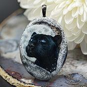 Украшения handmade. Livemaster - original item Moon Panther mascot pendant. Totem