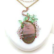 """Украшения handmade. Livemaster - original item Pendant with Jasper """"Sakura"""". Handmade."""