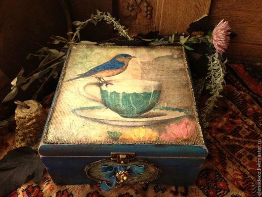 """Кухня ручной работы. Ярмарка Мастеров - ручная работа. Купить Сады для Синей Птицы"""" Большая чайная шкатулка.. Handmade."""