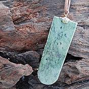 Украшения handmade. Livemaster - original item TONGUE. Greenstone pendant. Handmade.