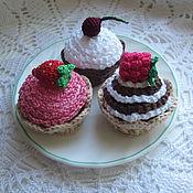 """Мягкие игрушки ручной работы. Ярмарка Мастеров - ручная работа набор для создания пирожных """"Маленький кондитер"""". Handmade."""