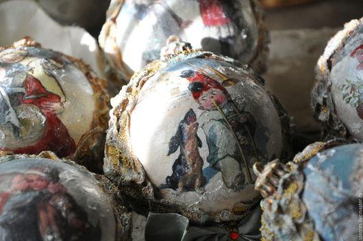 Новый год 2017 ручной работы. Ярмарка Мастеров - ручная работа. Купить Набор елочных шаров ,,Сияющий,,. Handmade. Золотой, елка
