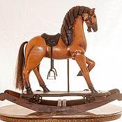 Винтаж ручной работы. Ярмарка Мастеров - ручная работа Лошадка деревянная большая Маренго лошадка качалка трансформер в конюш. Handmade.