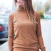 Одежда handmade. Livemaster - original item Turtleneck. Women`s turtleneck for the winter. Cotton Blouse. Handmade.