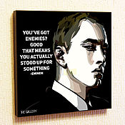 Картины и панно handmade. Livemaster - original item Picture Eminem in the style of Pop Art. Handmade.