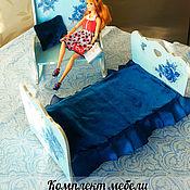 """Куклы и игрушки ручной работы. Ярмарка Мастеров - ручная работа Гарнитур кукольной мебели """"Зимние розы"""". Handmade."""