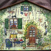 Для дома и интерьера ручной работы. Ярмарка Мастеров - ручная работа Домик-ключница. Handmade.