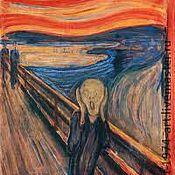 """Картины и панно ручной работы. Ярмарка Мастеров - ручная работа картина """"крик"""". Handmade."""