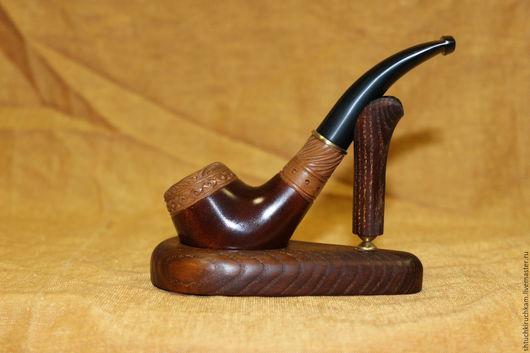 """Подарки для мужчин, ручной работы. Ярмарка Мастеров - ручная работа. Купить Трубка """"Праздничная"""". Handmade. Коричневый, трубка курительная, подарок"""